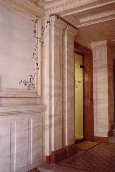 Décors: Peinture murale pour hall d\'entrée d\'immeuble
